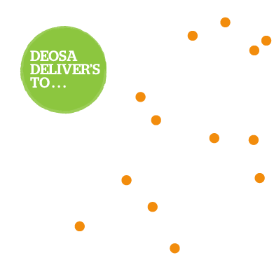 Delivery map for Deosa Wholefoods